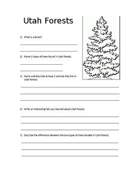 Utah Forest Worksheet
