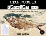 Utah Fossils Location Map by Counties