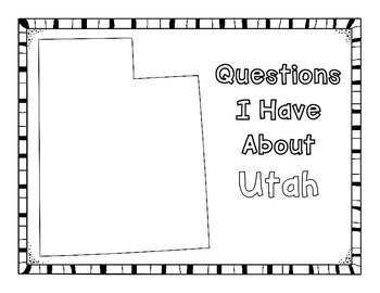 Utah Graphic Organizers (Perfect for KWL charts and geography!)