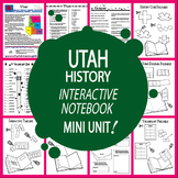 Utah History State Study Interactive Notebook Unit + AUDIO