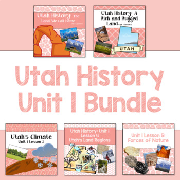 Utah History Unit 1 Bundle