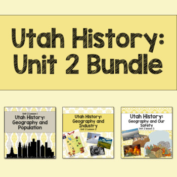 Utah History: Unit 2 Bundle
