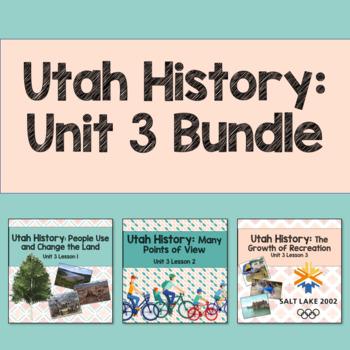 Utah History: Unit 3 Bundle