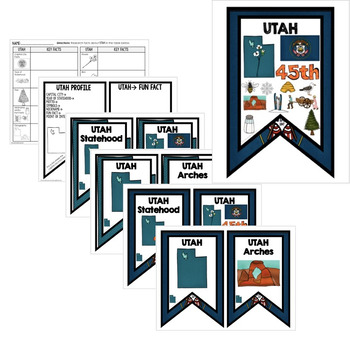 Utah History Word Wall, State Profile, Activity Pages