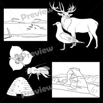 Utah Landmarks, Symbols, and Animals Clip Art