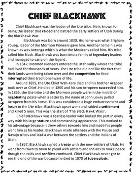 Utah Native Americans: Chief Blackhawk