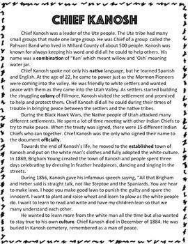 Utah Native Americans: Chief Kanosh