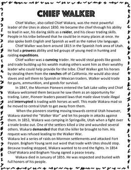 Utah Native Americans: Chief Walker
