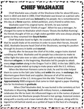 Utah Native Americans: Chief Washakie