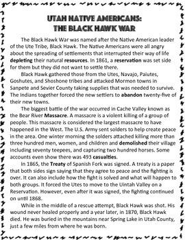 Utah Native Americans: The Blackhawk War