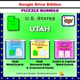 Utah Puzzle BUNDLE - Word Search & Crossword Activities - U.S. States - Google