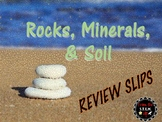 Utah 4th Grade Rocks, Minerals, & Soil Daily Review Slips