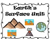 Utah SAGE prep task cards for Earth's Surface Unit