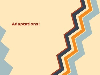Utah Science - Adaptations PowerPoint! Easy to adapt and add!