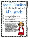 Utah Social Studies Standards Checklist 4th Grade