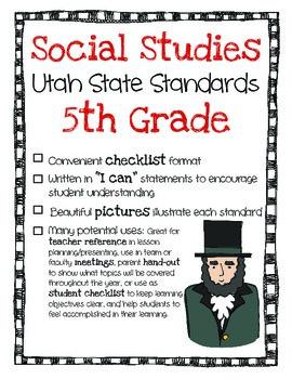 Utah Social Studies Standards Checklist 5th Grade
