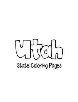 Utah State Coloring Pages