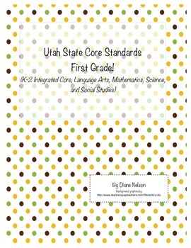 Utah State Core Standards First Grade!