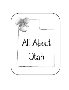 Utah State Lapbook. Interactive Notebook. US History and Geography