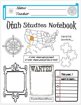Utah Notebook Cover