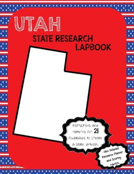 Utah State Research Lapbook Interactive Project