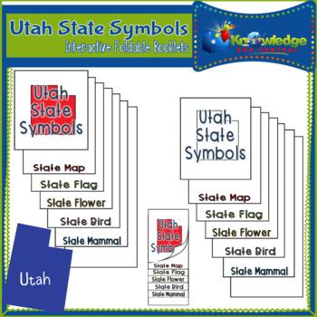 Utah State Symbols Interactive Foldable Booklets