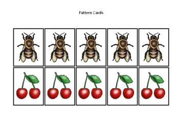 Utah State Symbols themed Preschool Pattern Cards and Game Board.