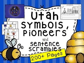 Utah State Symbols and Sentence Scramble (Plus Pioneers)