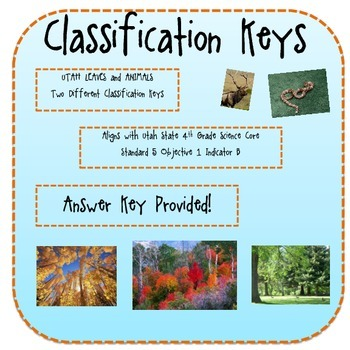 Utah Trees and Animals Classification Keys
