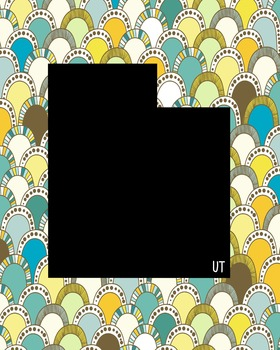 Utah Vintage State Map or Poster Class Decor, Classroom Decoration