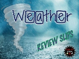 Utah 4th Grade Weather Daily Review Slips