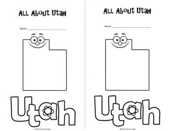 Utah Webquest Common Core Research Activity Mini Book
