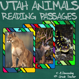 Utah animals: LEVELED reading passages and standards-based questions
