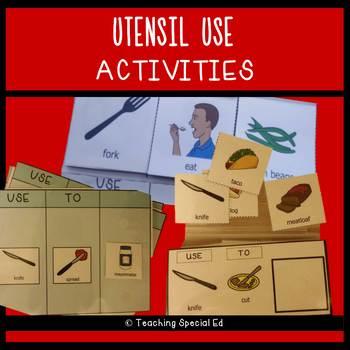 Utensil Uses Activities Set - LIFE SKILLS growing bundle