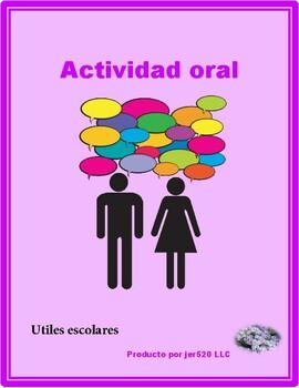 Utiles escolares (School Supplies in Spanish) Partner Speaking Activity