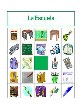 Utiles escolares (School Objects in Spanish) Bingo