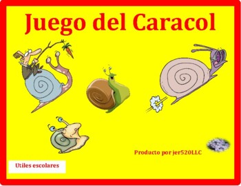 Utiles escolares (School objects in Spanish) Caracol Snail game