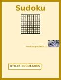 Utiles escolares (School objects in Spanish) Sudoku