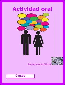 Utiles escolares (School supplies in Spanish) Speaking activity