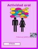 Utiles escolares (School supplies in Spanish) Interview Speaking activity