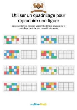 Utiliser un quadrillage 2 -Reproduis le dessin en coloriant les bonnes cases