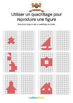 Utiliser un quadrillage 5 -Reproduis le dessin en coloriant les bonnes cases