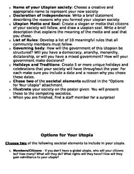 Utopia- Project Based Learning
