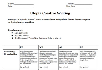 Utopia essay rubric how to write a nb notation