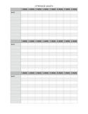 Utterance Length Data Sheet