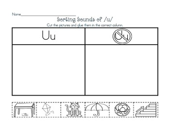 Utterly Exciting Letter Uu:  Uu Activities