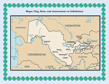 Uzbekistan Geography Maps, Flag, Data, Assessment - Map Skills Data Analysis