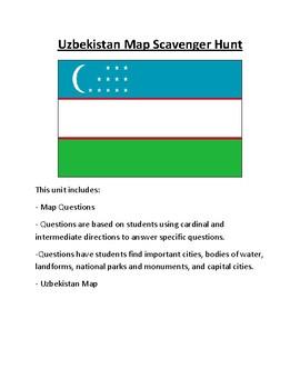 Uzbekistan Map Scavenger Hunt