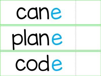 """V-C-E (aka """"Silent E"""") Word Flaps"""