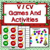 V/CV First Syllable Open Games, Activities, Segmenting, Word Work, Phonics